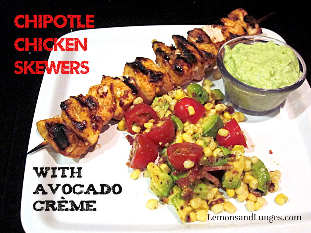 Chicken Chipotle Skewers via Lemons and Lunges