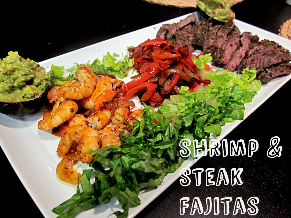 Steak and Shrimp Fajitas