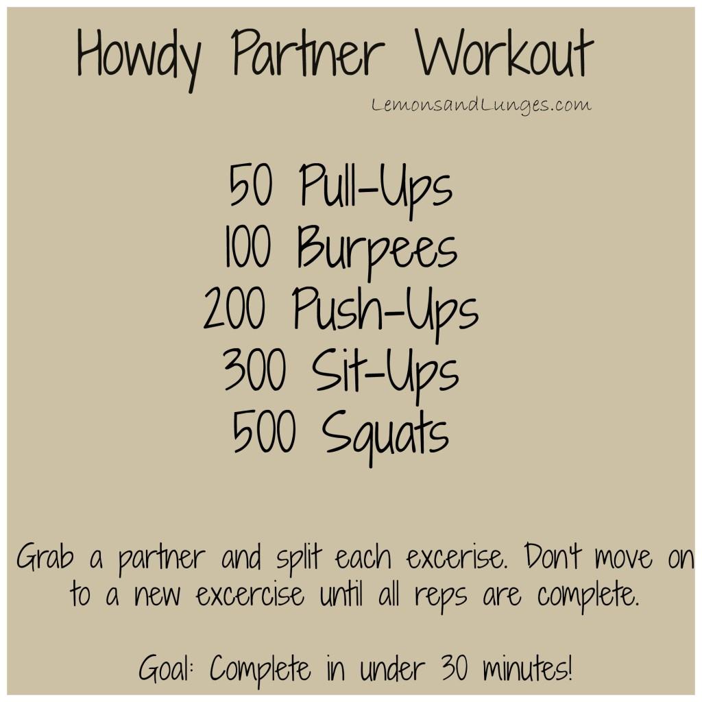 Howdy Partner Workout via LemonsandLunges