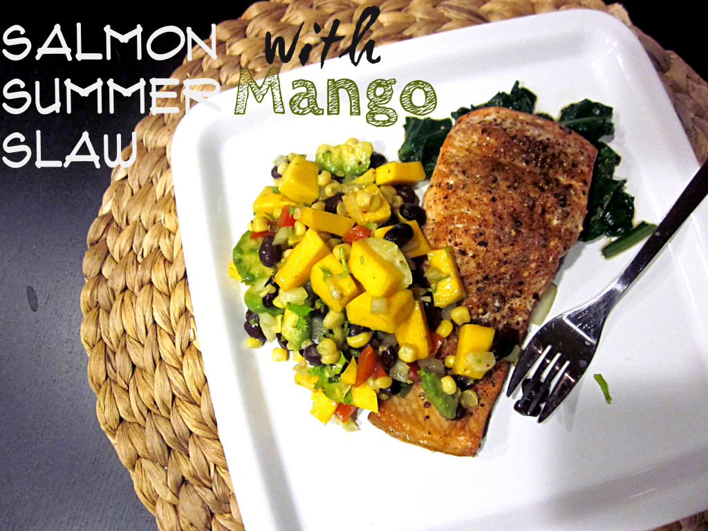 Salmon and Mango Slaw via LemonsandLunges