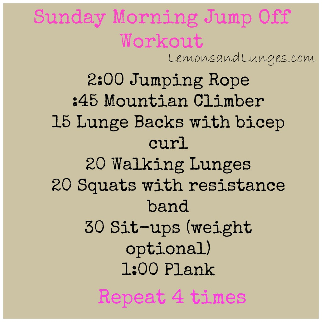 Sunday Morning Jump Off P via LemonsandLunges