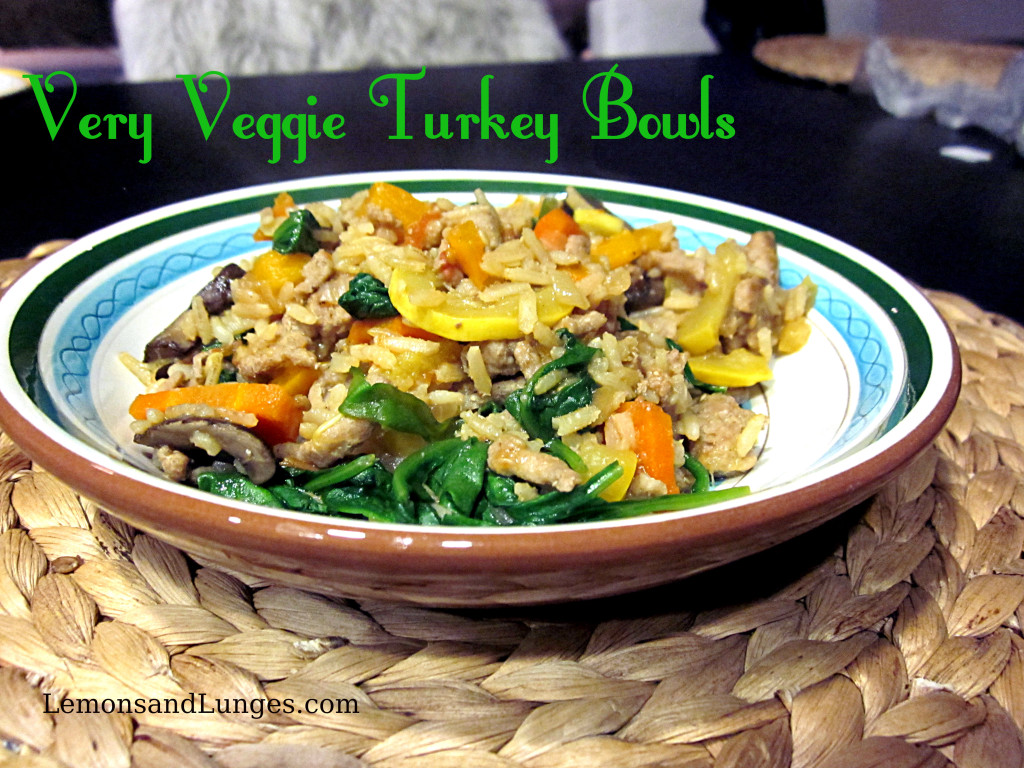Very Veggie Turkey Bowl via LemonsandLunges