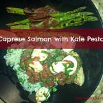 Parent Approved: Caprese Salmon with Kale Pesto