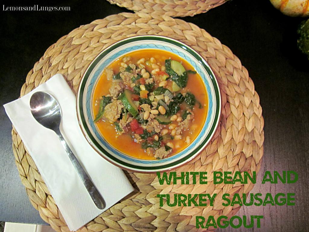 Turkey Sausage and Kale Ragout l Lemons & Lunges