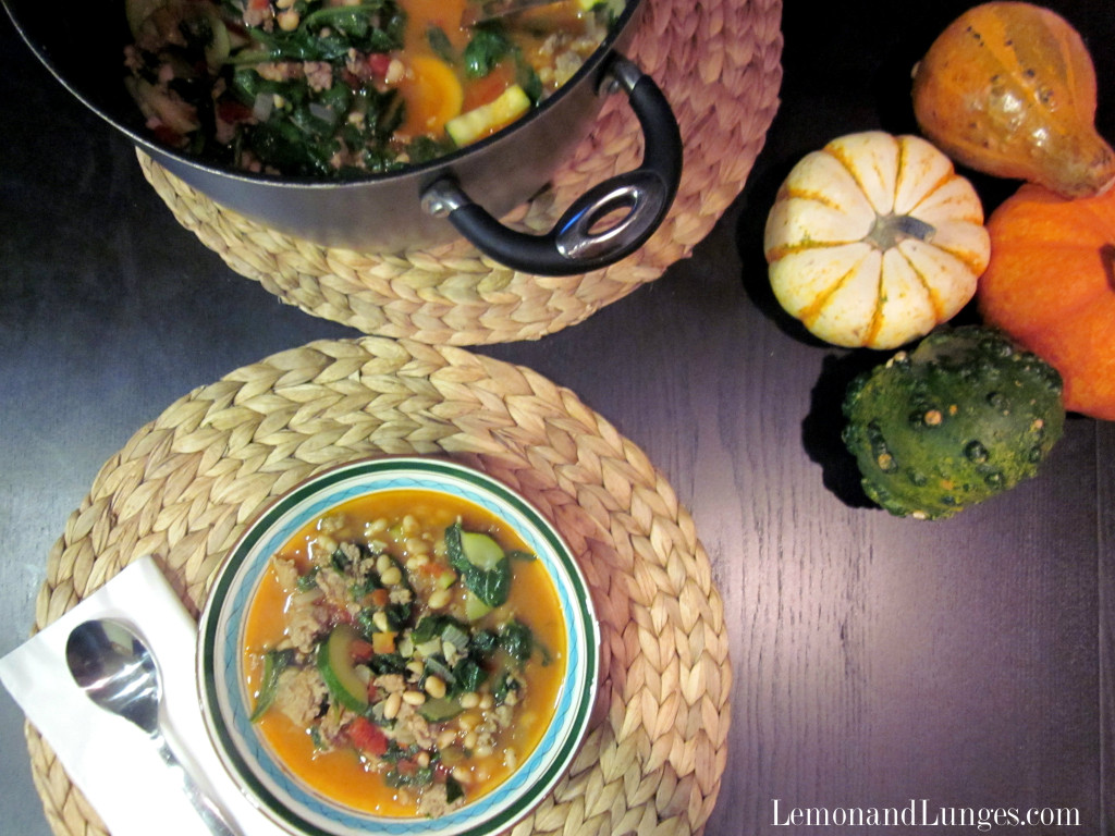 Turkey Sausage and Kale Ragout l LemonsandLunges 2