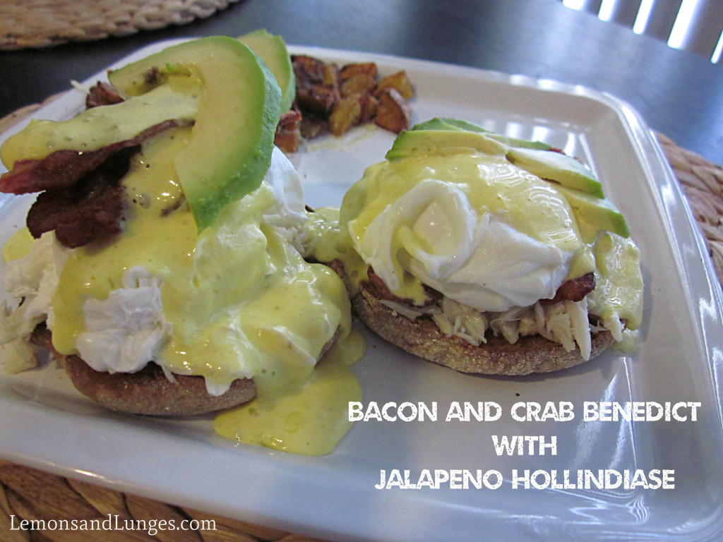Eggs Benedict with Jalepano Hollindaise l LemonsandLunges