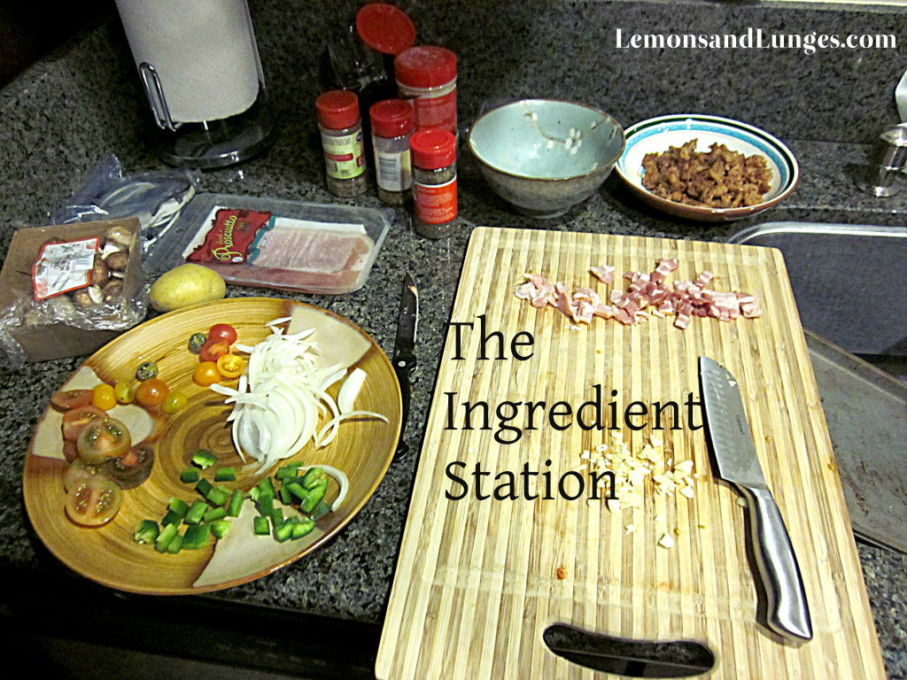Make Your Own Pizza Ingredient Station