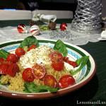 Tomato Burrata Quinoa & Basil Salad