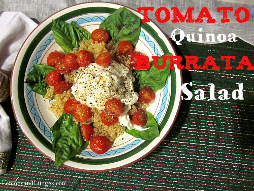 quinoa tomato burrata salad l LemonsandLunges