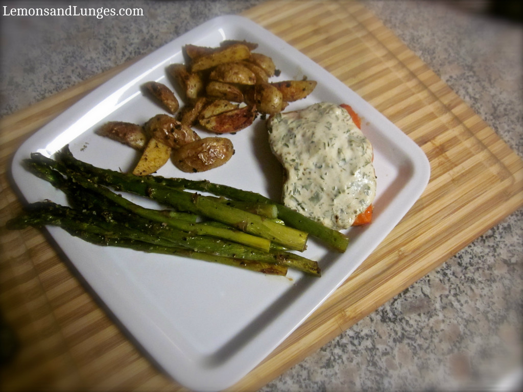 Salmon and Yogurt Herb Sauce V2